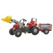 ROLLY TOYS JUNIOR RT minamas traktorius su priekaba ir kaušu 3-8