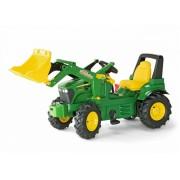 ROLLY TOYS traktorius John Deere rollyFarmTrac su kaušu ir 2 bėgiais