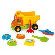 WADER smėlio dėžės sunkvežimis su įrankiais