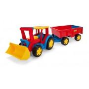 WADER traktorius su kaušu ir priekaba
